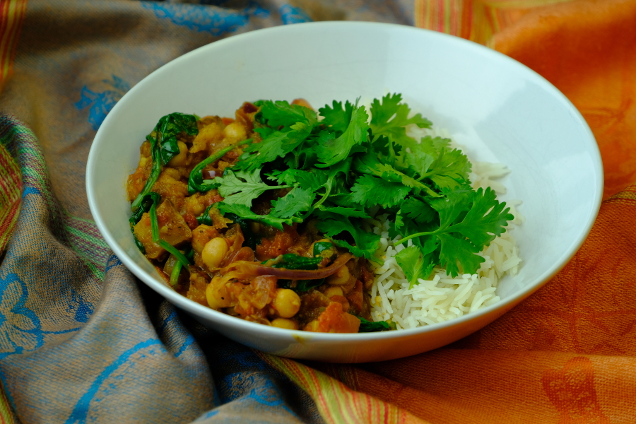 Butternut Pumpkin and Chickpea Curry