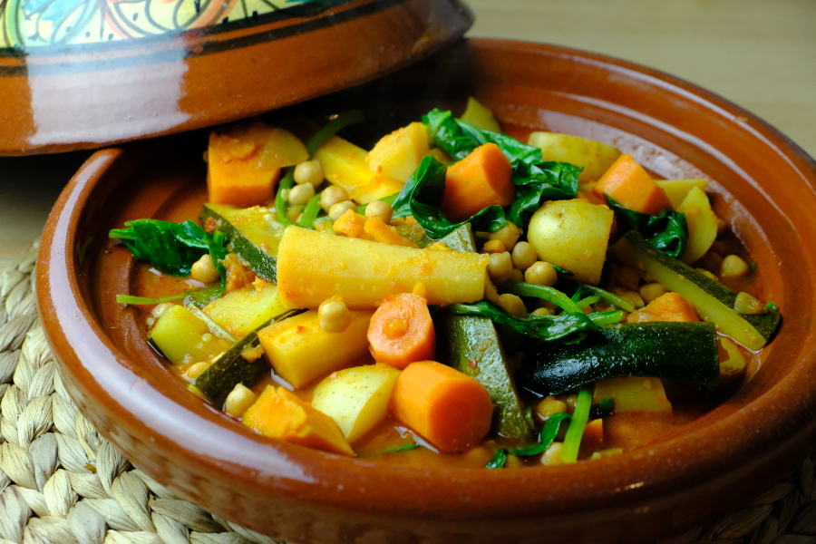 Tunisian Vegetable and Chickpea Tajine