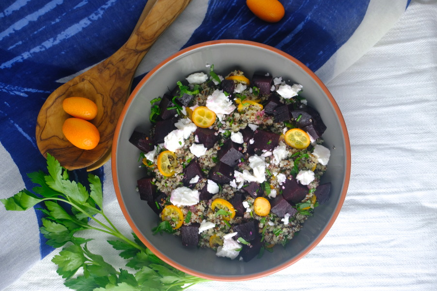 Beetroot and Kumquat Salad with Quinoa
