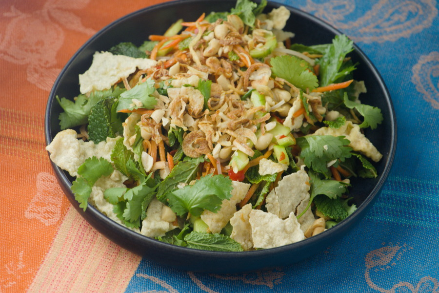 Vietnamese Spicy Rice Noodle and Yuba Salad